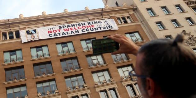 Aux commémorations de l'attentat de Barcelone, les indépendantistes catalans ont protesté... en anglais