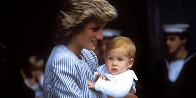 Princess Diana carries baby Prince Harry as the Royal Family set sail for the Western Isles in 1986.