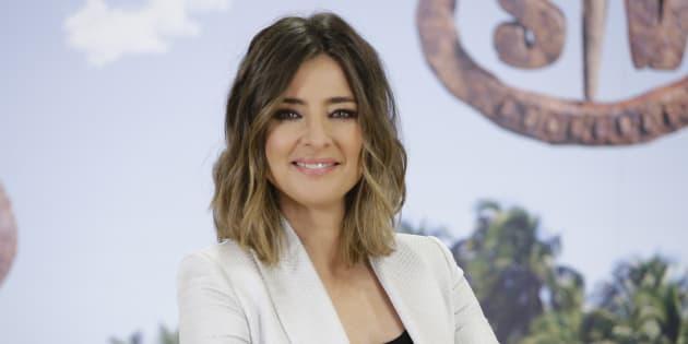 La periodista Sandra Barneda, durante la presentación del programa 'Supervivientes' el 6 de marzo de 2018.