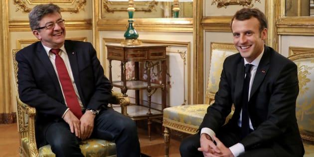 Emmanuel Macron a reçu Jean-Luc Melenchon à l'Elysée pour évoquer son projet de refondation de l'Europe.