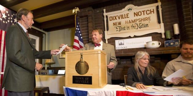 Les électeurs de Dixville Notch votent, mardi 8 novembre 2016.
