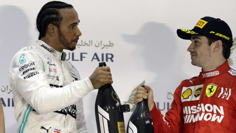 d3ce8428488 Five-time world champion Lewis Hamilton took a lucky Bahrain Grand Prix win  for Mercedes on Sunday after engine trouble in the dying stages denied  Ferrari s ...