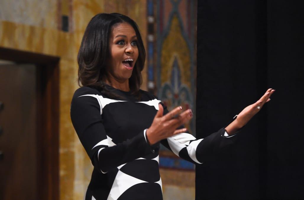 e821f6e337 Michelle Obama strikes a pose in her bathrobe in Instagram pic - AOL ...