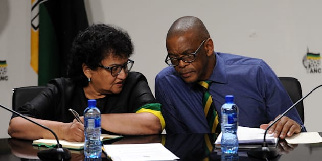 ANC secretary-general Ace Magashule and the party's deputy secretary-general Jessie Duarte