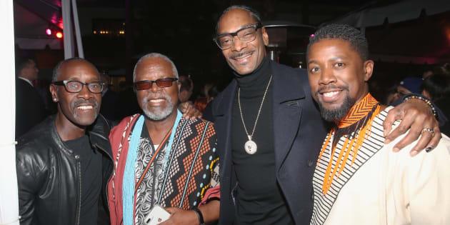 Don Cheadle, John Kani, Snoop Dogg and Atandwa Kani at the Los Angeles world premiere of 'Black Panther'.