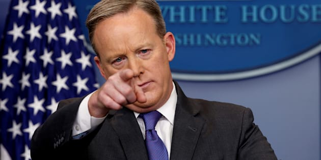Sean Spicer is a talking point -- period.