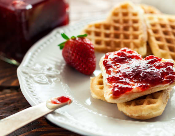 This $15 waffle maker is a Valentine's Day essential