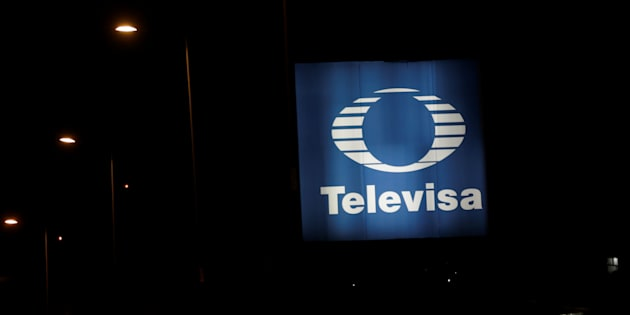 The logo of broadcaster Televisa is seen outside its headquarters in Mexico City, Mexico December 14, 2016. Picture taken on December 14, 2016. REUTERS/Henry Romero     TPX IMAGES OF THE DAY
