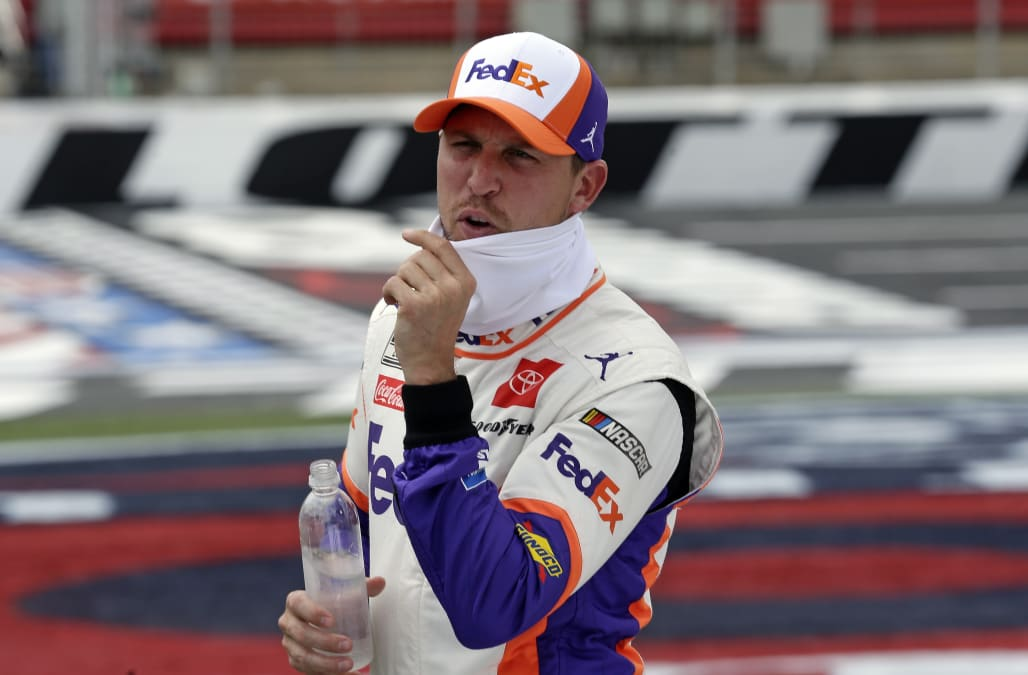 Denny Hamlin crew members banned 4 races after piece of metal falls off car