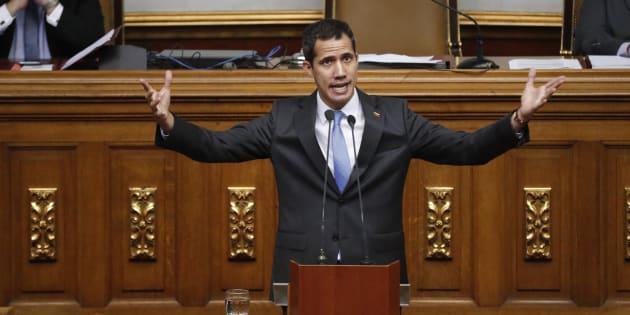 Venezuela: Juan Guaido visé par une enquête pour sabotage (Photo prise le 11 mars 2019 au Venezuela).