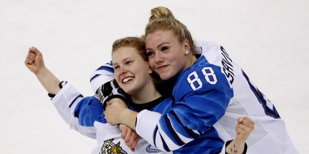 Les Finlandaises s'assurent le bronze en hockey