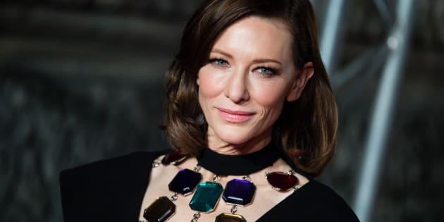 L'actrice Cate Blanchett sur le tapis rouge des Bafta 2019 ce dimanche 10 février.