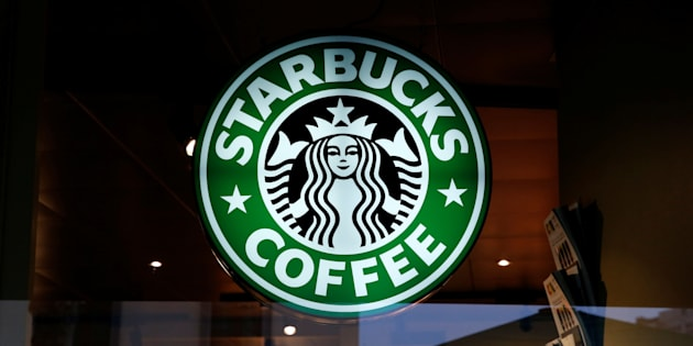 A Starbucks Coffee sign is pictured in Geneva, Switzerland, March 11, 2016.  REUTERS/Denis Balibouse