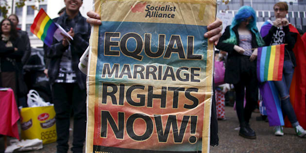 Gay marriage supporters have taken to the streets in Sydney and Melbourne.