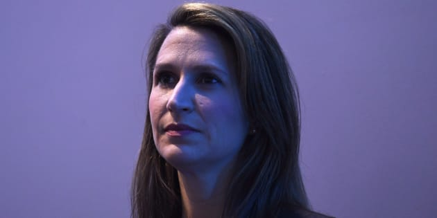 Ontario PC Party leadership candidate Caroline Mulroney waits to participate in a Q&A at the Manning Networking Conference in Ottawa on Feb. 9, 2018. THE CANADIAN PRESS/Justin Tang