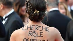 À Cannes, cette actrice anonyme a trouvé l'astuce pour trouver du