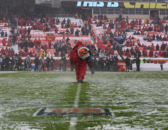 What field looks like days before Patriots-Chiefs