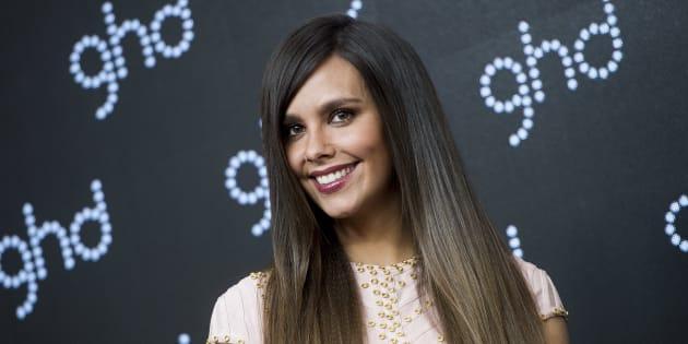 Cristina Pedroche durante la presentación de la marca 'Ghd' en Madrid.