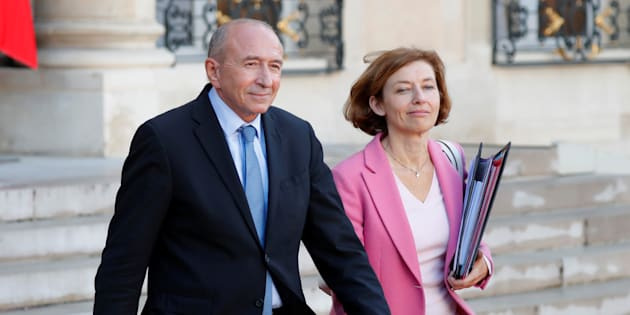 Gérard Collomb et Florence Parly à l'Elusée au mois de septembre.
