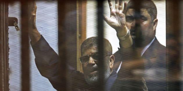 Mohamed Morsi au Caire le 16 juin 2015.