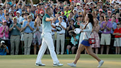 Sergio Garcia And His Fiancee Reacted Exactly The Same Way When He Won The
