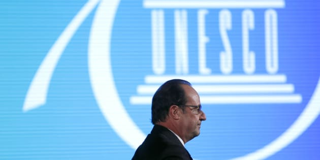 François Hollande à l'UNESCO, novembre 2016. REUTERS/Yoan Valat/Pool