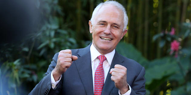 Malcolm Turnbull at a campaign event in western Sydney