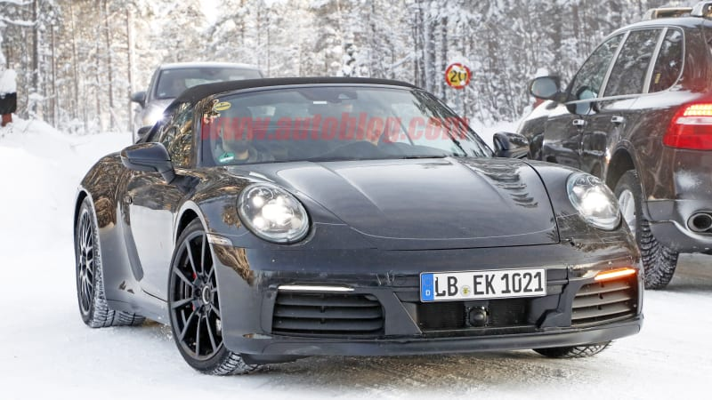 2020 Porsche 911 992 Spy Shots Show Interior And Manual Transmission