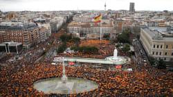 Derecha y ultraderecha española marchan contra gobierno de Pedro