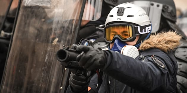 Les forces de l'ordre pourront bien porter des LBD dans les prochaines manifestations des gilets jaunes à Paris (Photo prise à Paris le 19 janvier).