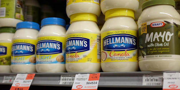 Jars of mayonnaise are seen in a store on Jan. 30, 2014 in Miami, Fla.