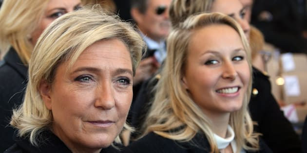 Marion Maréchal Le Pen et Marine Le Pen, en octobre 2016.