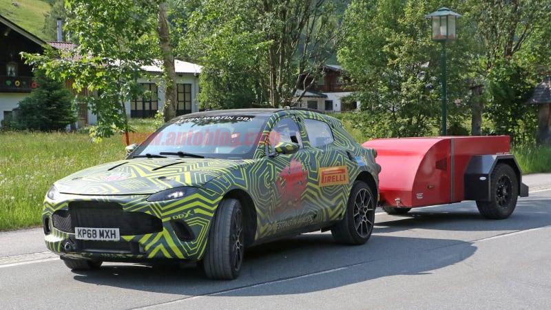 Aaa Towing Cost >> Aston Martin DBX SUV spy shots show it hauling, plus ...