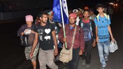 El siguiente reto peligroso de la caravana migrante: cruzar