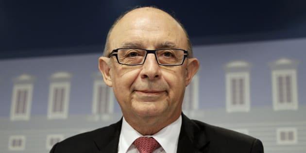 Cristóbal Montoro, ministro de Hacienda, en una rueda de prens. REUTERS/Andrea Comas