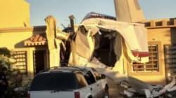 Cae avioneta sobre casa en Cualiacán, Sinaloa y deja 4