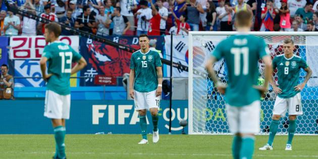 L'Allemagne éliminée de la Coupe du monde 2018 après sa défaite face à la Corée du Sud