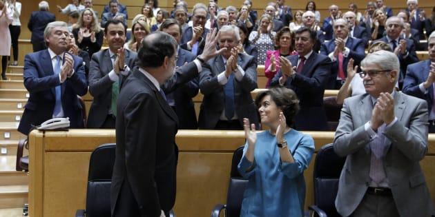 Rajoy, en el Senado tras la aprobación del 155
