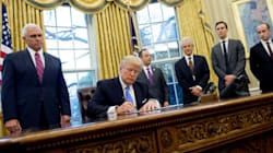 Donald Trump Signs Anti-Abortion Executive Order Surrounded By