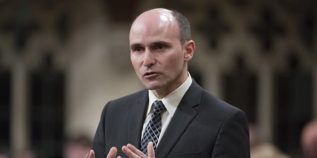 Families, Children and Social Development Minister Jean-Yves Duclos rise in the House of Commons on May 6, 2016.