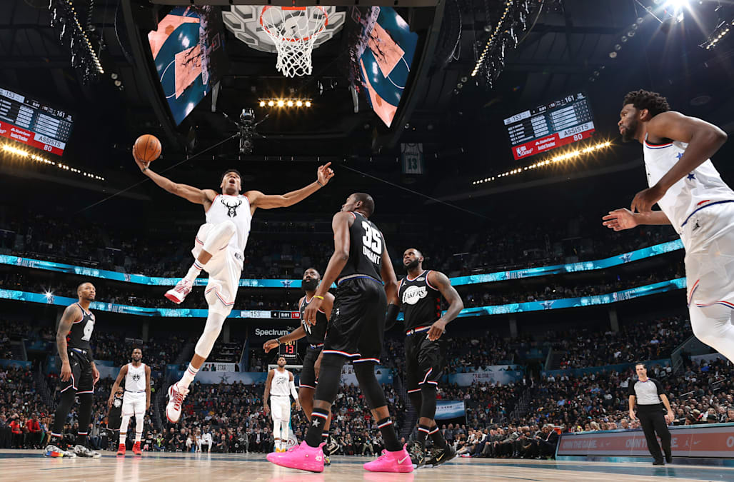 7846339b6fcf Team LeBron wins NBA All-Star Game over Team Giannis  Kevin Durant ...