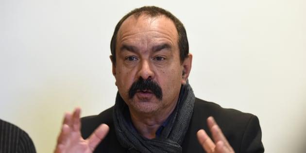 Philippe Martinez à Paris le 29 mars 2017.