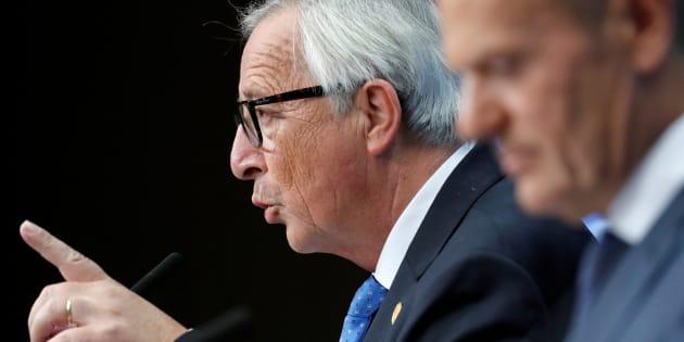 Jean-Claude Juncker y Donald Tusk, el pasado octubre en Bruselas, tras la cumbre de líderes de la UE.