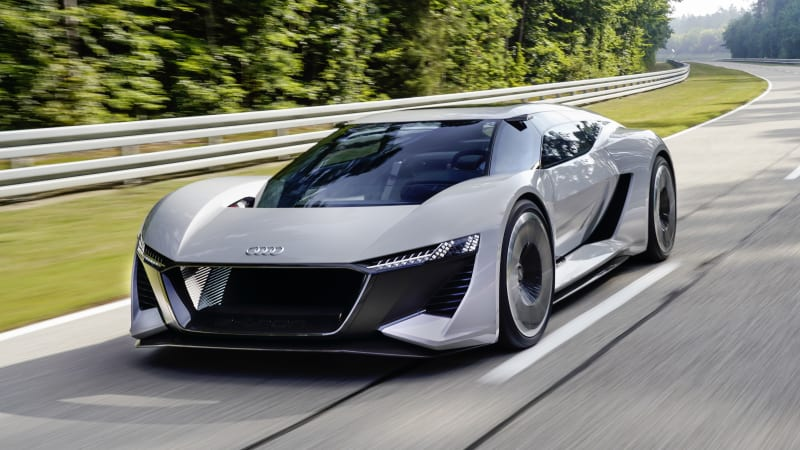 Audi PB18 E-Tron is an electric supercar with a sometimes-center seat