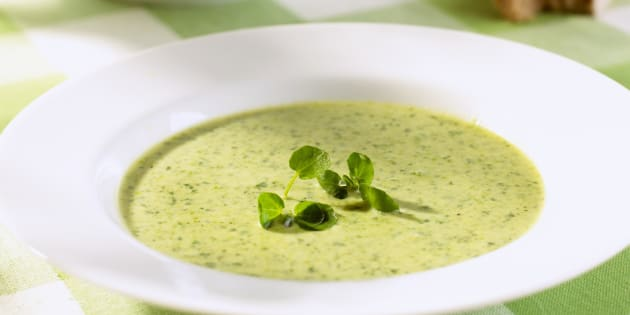 Watercress soup.