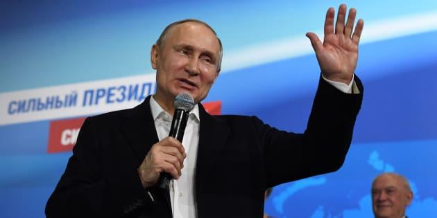 Vladimir Poutine largement réélu dès le 1er tour de l'élection présidentielle russe
