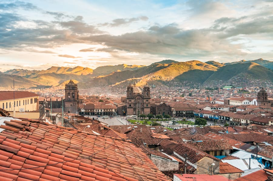 A view of cuzco, high in the Peruvian Andes