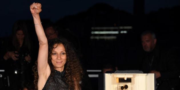 Houda Benyamina, ici à Cannes en mai 2016, fait partie des nommés des César 2016 où elle incarne une nouvelle génération de femmes réalisatrices