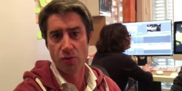 François Ruffin dans une vidéo publiée sur ses réseaux sociaux le 9 janvier 2019