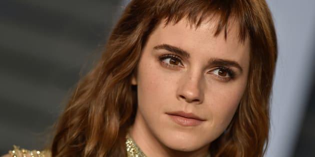 La actriz Emma Watson, en la gala de los Oscar 2018.